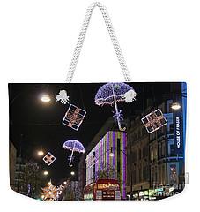 London At Christmas Weekender Tote Bag