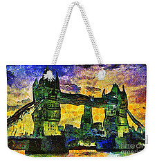 Weekender Tote Bag featuring the digital art London Bridge by Ian Mitchell
