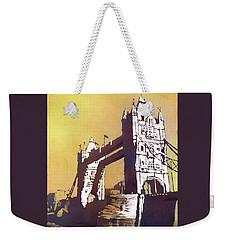 Weekender Tote Bag featuring the painting London Bridge- Uk by Ryan Fox