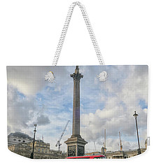 London Bus And Lord Nelson Weekender Tote Bag