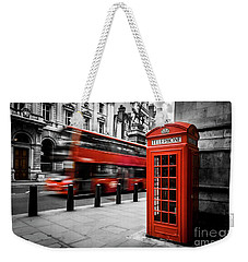 London Bus And Telephone Box In Red Weekender Tote Bag