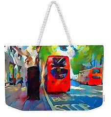 London Bus Stop Weekender Tote Bag
