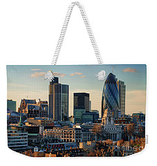 Weekender Tote Bag featuring the photograph London City Of Contrasts by Lois Bryan