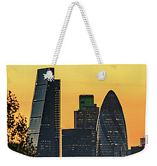 London City Sunset Weekender Tote Bag by Matt Malloy