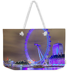 London Cityscape At Night 5x7 Weekender Tote Bag