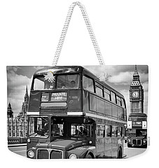 London Classical Streetscene Weekender Tote Bag by Melanie Viola