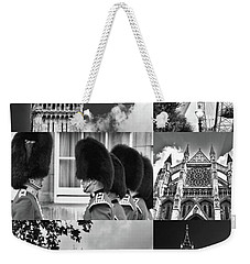London Collage Bw Weekender Tote Bag