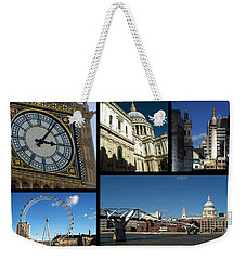 London Collage Weekender Tote Bag