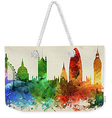 London England Skyline Panorama Gblo-pa02 Weekender Tote Bag