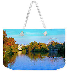 London Eye And Palace Weekender Tote Bag by Haleh Mahbod