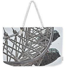 London Eye And Snow Weekender Tote Bag