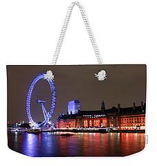 London Eye By Night Weekender Tote Bag by RKAB Works