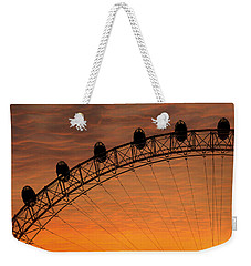 London Eye Sunset Weekender Tote Bag by Martin Newman