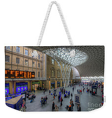 Weekender Tote Bag featuring the photograph London King's Cross by Yhun Suarez