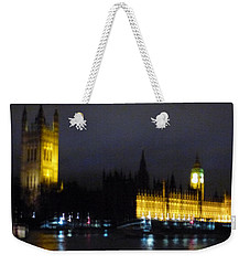 Weekender Tote Bag featuring the photograph London Late Night by Christin Brodie