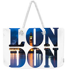 London Letters Weekender Tote Bag by Matt Malloy