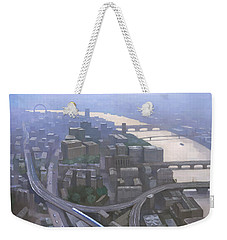 London, Looking West From The Shard Weekender Tote Bag by Steve Mitchell