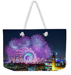 London New Year Fireworks Display Weekender Tote Bag