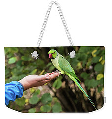 London Parakeet Weekender Tote Bag by Matt Malloy