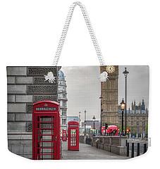 London Phone Booths And Big Ben Weekender Tote Bag