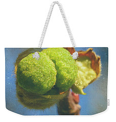 Weekender Tote Bag featuring the photograph London Plane Buds A - Platanaceae Fine Art by Jacek Wojnarowski