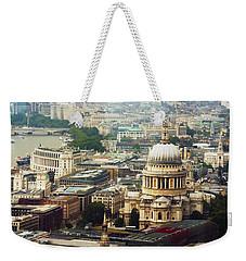 London Rooftops Weekender Tote Bag by Judi Saunders