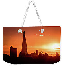London Shard Sunset Weekender Tote Bag by Matt Malloy