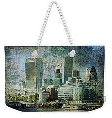 London Skyline Key Of Blue Weekender Tote Bag