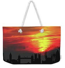 Sunset London Weekender Tote Bag