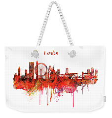 London Skyline Watercolor Weekender Tote Bag by Marian Voicu