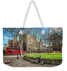 Weekender Tote Bag featuring the photograph London Transport by Adrian Evans