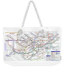 London Underground Map Weekender Tote Bag