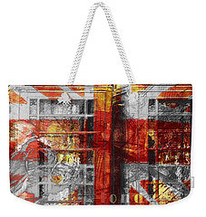 Weekender Tote Bag featuring the digital art London's Calling  by Fine Art By Andrew David