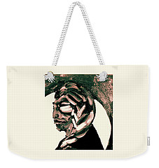Weekender Tote Bag featuring the painting Lone Bear by Larry Campbell