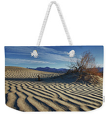 Lone Bush Death Valley Hdr Weekender Tote Bag by James Hammond