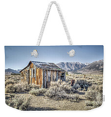 Weekender Tote Bag featuring the photograph Lone Cabin by Charles Garcia