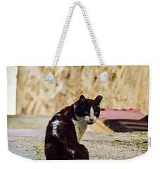 Lone Cat Weekender Tote Bag