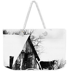 Lone Cow In Snowstorm Weekender Tote Bag