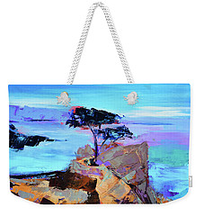 Weekender Tote Bag featuring the painting Lone Cypress by Elise Palmigiani