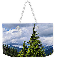 Lone Fir With Clouds Weekender Tote Bag