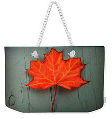 Lone Leaf Weekender Tote Bag