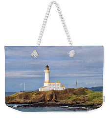 Weekender Tote Bag featuring the photograph Lone Lighthouse In Scotland by Roberta Byram
