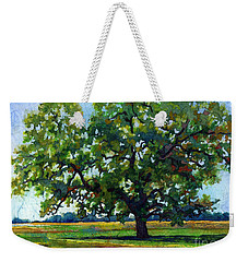 Weekender Tote Bag featuring the painting Lone Oak by Hailey E Herrera