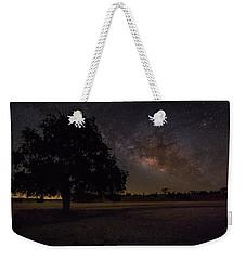 Lone Oak Under The Milky Way Weekender Tote Bag