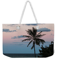 Lone Palm At Sunset Weekender Tote Bag