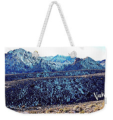 Weekender Tote Bag featuring the photograph Lone Ranger's Path by Vanessa Palomino