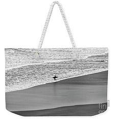 Lone Surfer Weekender Tote Bag by Nicholas Burningham