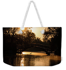 Lone Swan Up For Dawn Weekender Tote Bag