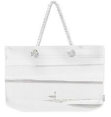 Lone Swan Weekender Tote Bag