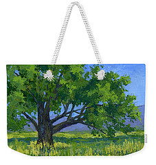 Weekender Tote Bag featuring the painting Lone Tree by David King